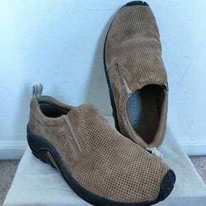 Merrell Perforated Suede Slip On Jungle Moc Shoes
